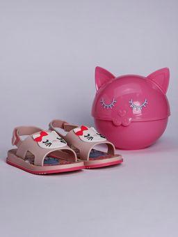 Sandalia-Barbie-Fashion-Cat-Infantil-para-Bebe-Menina---Rosa-branco