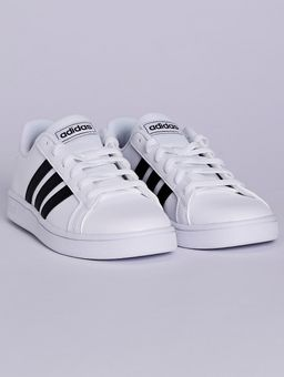 Tenis-Adidas-Grand-Court-Juvenil-Para-Menino---Branco-preto-32
