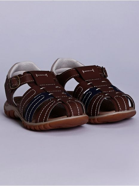 Sandalia-Klin-Line-Play-Infantil-para-Bebe-Menino---Caramelo