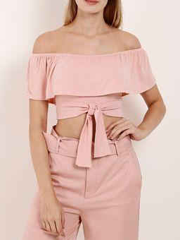 Blusa-Cropped-Ciganinha-Autentique-Feminina-Rosa