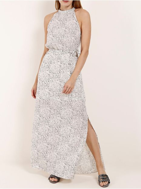 Vestido-Longo-Estampado-Feminino-Branco
