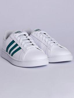 Tenis-Casual-Adidas-Grand-Court-Masculino-Branco-verde-37