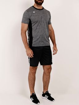 Camiseta-Esportiva-Kappa-Logus-Masculina-Chumbo