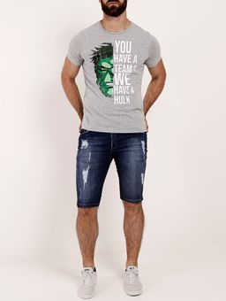 Camiseta-Manga-Curta-Hulk-Marvel-Masculina-Cinza