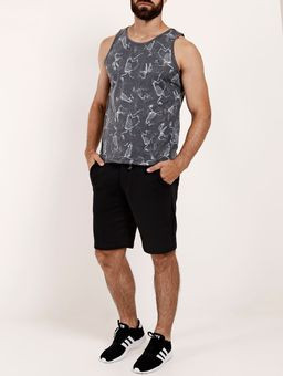 Camiseta-Regata-Estampada-Gangster-Masculina-Grafite-P