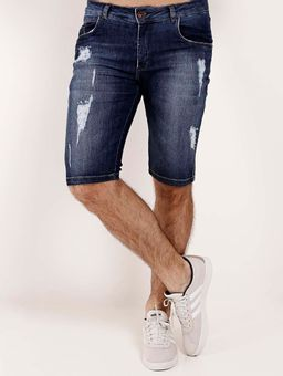 Bermuda-Jeans-Destroyed-Masculina-Azul