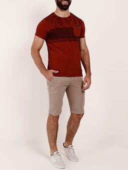 Camiseta-com-Bolso-Manga-Curta-Masculina-Laranja-P