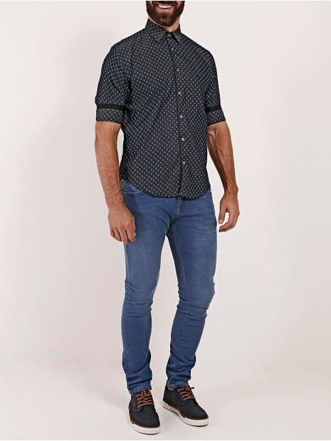 Camisa-Manga-3-4-Masculina-Azul-Marinho-P