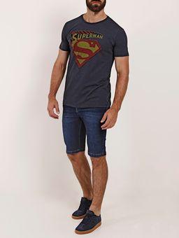 Camiseta-Manga-Curta-Superman-Masculina-Azul-Marinho
