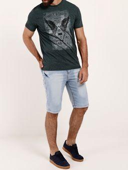 Camiseta-Manga-Curta-Gola-Careca-Masculina-Verde