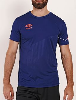 Camiseta-Esportiva-Umbro-TWR-Soul-Masculina-Azul-Marinho-branco