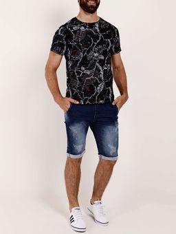 Camiseta-Estampada-Manga-Curta-Masculina-Preto-cinza-P