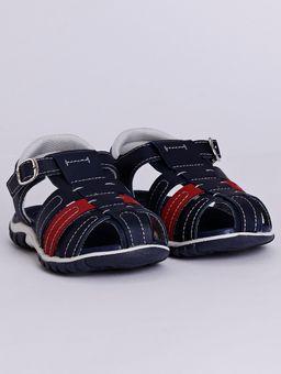 Sandalia-Klin-Line-Play-Infantil-para-Bebe-Menino---Azul-Marinho-vermelho