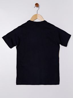 Camiseta-Manga-Curta-Gangster-Juvenil-Para-Menino---Azul-Marinho-16