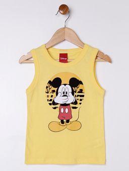 Camiseta-Regata-Mickey-Disney-Infantil-Menino---Amarelo