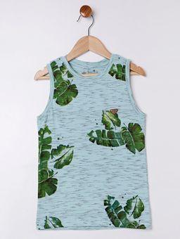 Camiseta-Regata-Folhagem-Infantil-para-Menino---Verde