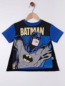 Camiseta-Manga-Curta-Batman-Infantil-Para-Menino---Azul-1