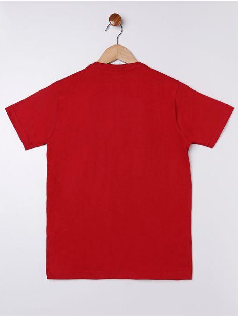 Camiseta-Manga-Curta-Gangster-Juvenil-Para-Menino---Vermelho-cinza-16