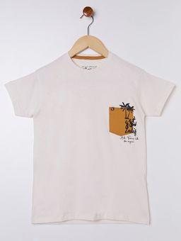 Camiseta-Manga-Curta-Juvenil-Para-Menino---Bege-16