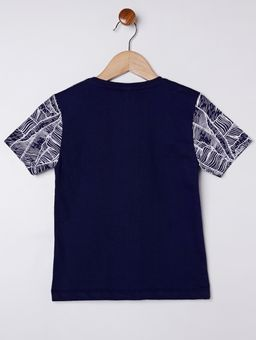 Camiseta-Manga-Curta-Infantil-Para-Menino---Branco-azul-Marinho-1