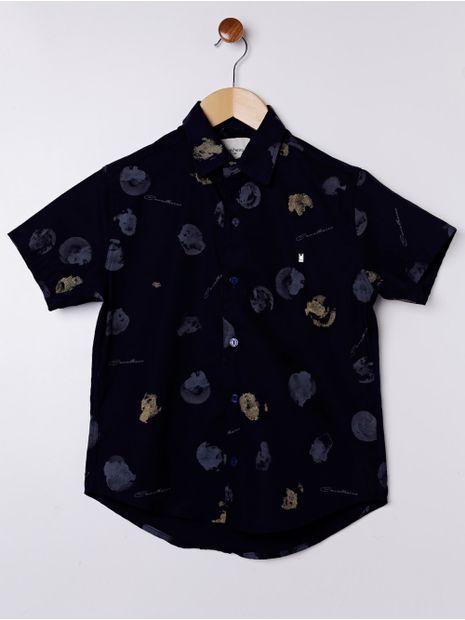 Camisa-Manga-Curta-Juvenil-Para-Menino---Azul-Marinho-8