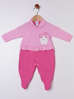 Macacao-Infantil-Para-Bebe-Menina---Rosa-pink-