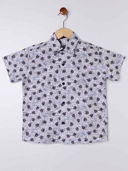 Camisa-Estampada-Manga-Curta-Juvenil-para-Menino---Branco-azul-Marinho