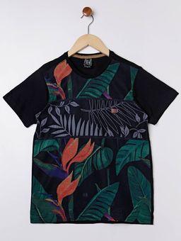 Camiseta-Manga-Curta-Gangster-Juvenil-para-Menino---Preto