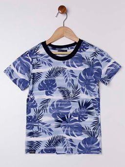 Camiseta-Manga-Curta-Estampada-Infantil-para-Menino---Azul