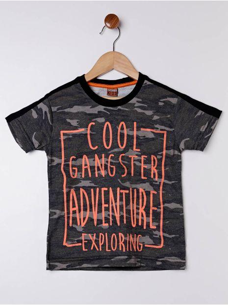Camiseta-Manga-Curta-Gangster-Infantil-Para-Menino---Cinza-camuflado-6