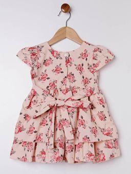 Vestido-com-Babados-Infantil-para-Menina---Bege