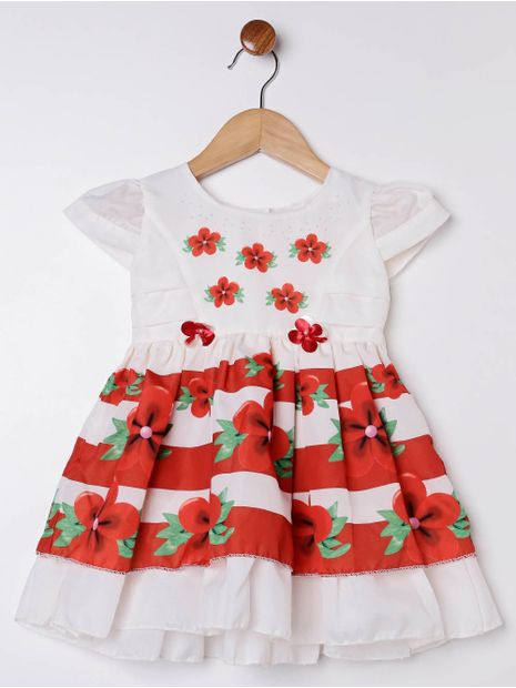 Vestido-Infantil-Para-Bebe-Menina---Bege-P