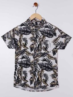 Camisa-Manga-Curta-Juvenil-Para-Menino---Cinza-amarelo-16