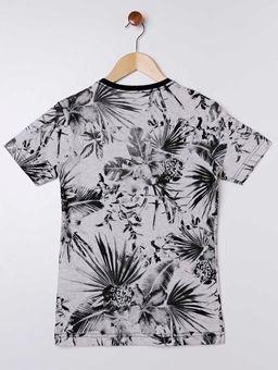 Camiseta-Folhagens-Manga-Curta-Vels-Juvenil-para-Menino---Cinza-preto