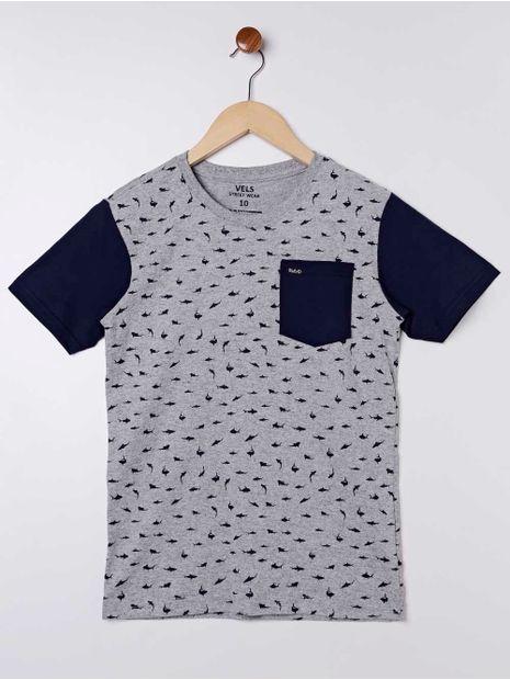 Camiseta-Manga-Curta-Vels-Juvenil-Para-Menino---Cinza-azul-16