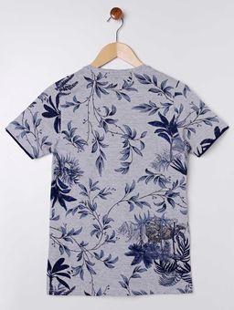 Camiseta-Manga-Curta-Juvenil-Para-Menino---Cinza-azul