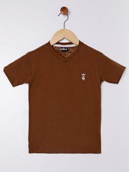 Camiseta-Manga-Curta-Infantil-Para-Menino---Marrom-6