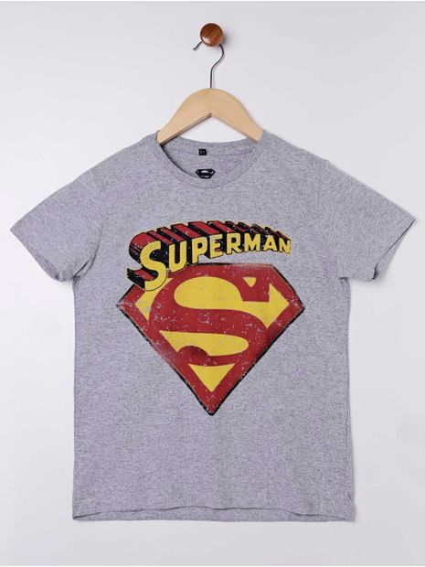 Camiseta-Superman-Manga-Curta-Juvenil-para-Menino---Cinza-16
