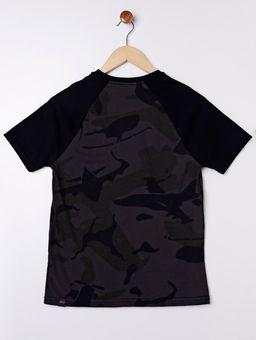 Camiseta-Camuflada-Manga-Curta-Juvenil-para-Menino---Chumbo