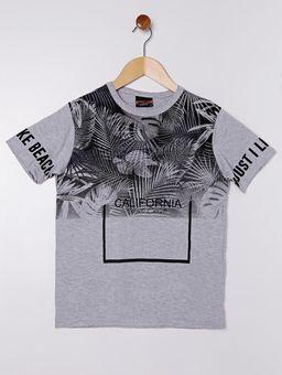 Camiseta-Manga-Curta-Juvenil-Para-Menino---Cinza