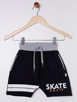 Bermuda-Skate-Moletinho-Infantil-para-Menino---Preto