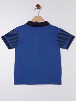 Polo-Manga-Curta-Infantil-para-Menino-Azul