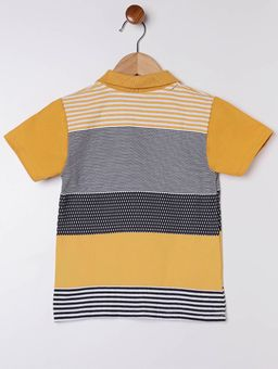 Polo-Manga-Curta-Infantil-para-Menino---Amarelo