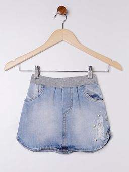 Saia-Jeans-com-Short-Infantil-para-Menina---Azul