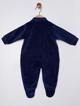Macacao-Longo-em-Plush-Infantil-para-Bebe-Menino---Azul-Marinho