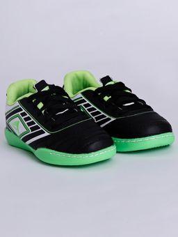 Tenis-Futsal-Indoor-Infantil-para-Menino---Preto-verde