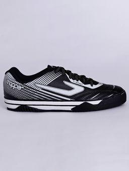 Tenis-Futsal-Topper-Frontier-X-Masculino-Preto-branco-37