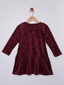 Vestido-Plush-Infantil-Para-Menina---Bordo-1