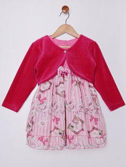 Vestido-com-Bolero-Infantil-Para-Bebe-Menina---Rosa-Pink-2