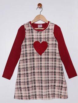 Vestido-com-Blusa-Infantil-para-Menina---Bege-vermelho